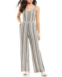 f01cac77801a Lyst - Jessica Simpson Black Genevieve Jumpsuit in Black