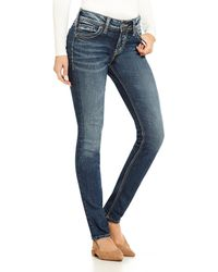 Silver Jeans Co. - Elyse Super Stretch Skinny Jeans - Lyst