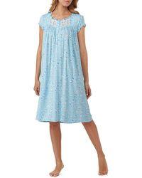 Eileen West - Rose-print Jersey Waltz Nightgown - Lyst
