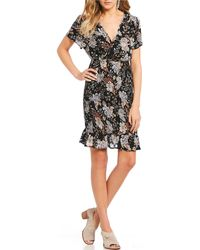 Patrons Of Peace - Floral Smocked Waist Dress - Lyst