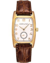 Hamilton - Boulton Analog Leather-strap Watch - Lyst