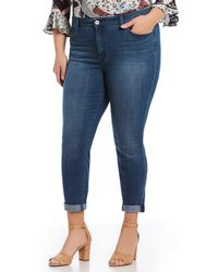Jessica Simpson - Plus Size Adore Rolled Ankle Jeans - Lyst