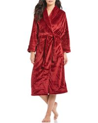 N By Natori - Fleece Long Wrap Robe - Lyst