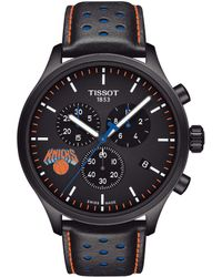 Tissot - Chrono Xl Nba New York Knicks Chronograph Leather-strap Watch - Lyst