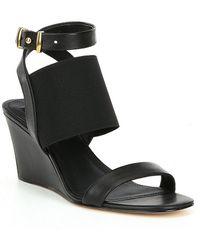 Donna Karan - Gili Banded Wedge Sandals - Lyst