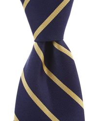 "Brooks Brothers - Stripe Traditional 3.25"" Silk Tie - Lyst"