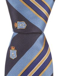 "Psycho Bunny - Shield Stripe Traditional 3.25"" Silk Tie - Lyst"