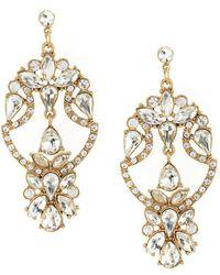Belle by badgley mischka Pavo Real Chandelier Statement Earrings ...