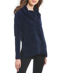Ivanka Trump - Chenille Cowl Neck Sweater - Lyst