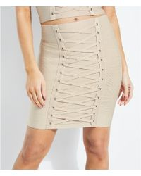 d0c083dd52 Guess - Coordinating Lace Up Mirage High Rise Skirt - Lyst