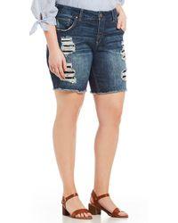 Silver Jeans Co. - Plus Size Sam Bermuda Boyfriend Short - Lyst
