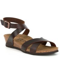 Birkenstock - Lola Ankle Wrap Strap Wedge Sandals - Lyst
