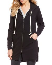 William Rast - Maison Long Zip-up Hoodie - Lyst
