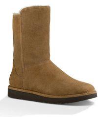 UGG - ® Abree Short Ii Suede Slip-on Sheepskin Lined Boots - Lyst