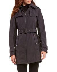 MICHAEL Michael Kors - Belted Soft Shell Trench Jacket - Lyst