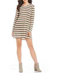 Rossmore. - By Ppla Kadri Striped Lattice Back Knit Swing Dress - Lyst