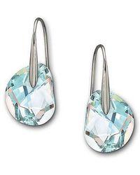 Swarovski | Galet Crystal Aurora Borealis Earrings | Lyst