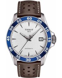 Tissot - V8 Men's Brown Leather Strap Mechanical Automatic Watch - Lyst