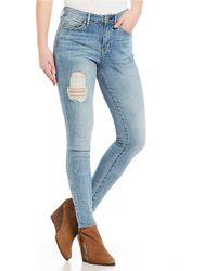 1b25843ea3091 Lyst - Jessica Simpson Medium Wash Curvy High-Rise Skinny Jeans in Blue