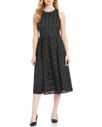 2f0df9be898 Antonio Melani Peggy Cut-out Lace Sleeveless Midi Dress in Green - Lyst