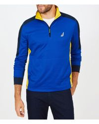 Nautica - Classic Fit Long-sleeve Performance Quarter-zip Pullover - Lyst