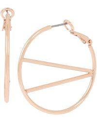 BCBGeneration - Geometric V Hoop Earrings - Lyst