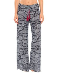 b207dbff57c Three Dots Cover-up Pants in Blue - Lyst