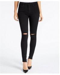 William Rast - Sculpted High-rise Slit Knee Skinny Jeans - Lyst