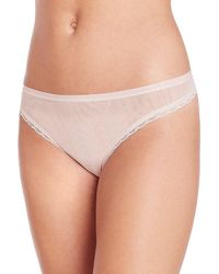 On Gossamer - Next To Nothing Mesh Thong - Lyst