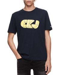 4a0eebbebb1 Calvin Klein - Jeans Short-sleeve Retro Ckj Graphic Logo T-shirt - Lyst