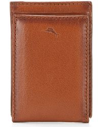 Tommy Bahama - Burnished Magnetic Leather Wallet With Money Clip - Lyst