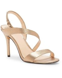 Vince Camuto - Costina Metallic Leather Dress Sandals - Lyst