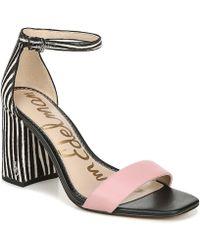 f65d2cde1 Sam Edelman Okala Zebra-Print Ankle-Wrap Pump in Black - Lyst