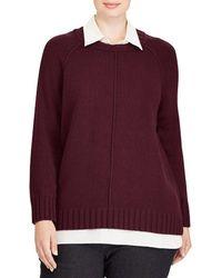 Lauren by Ralph Lauren - Plus Layered Cotton-blend Sweater - Lyst