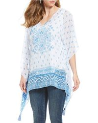 Vince Camuto - Plus Size Persian Medallion Poncho - Lyst