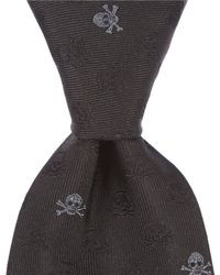 "John Varvatos - Skull Traditional 3.14"" Silk Tie - Lyst"
