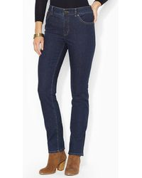 Lauren by Ralph Lauren - Lauren Jeans Co. Super Stretch Slimming Heritage Straight Jean - Lyst