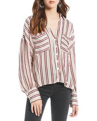 Free People - Mad About You Button Up In Ivory - Lyst