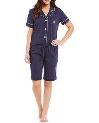 Lauren by Ralph Lauren - Short-sleeve Bermuda Pajama Set - Lyst