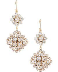 Belle By Badgley Mischka - Cluster Link Earrings - Lyst