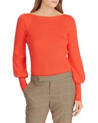 Lauren by Ralph Lauren - Petite Size Baloon Sleeve Sweater Top - Lyst
