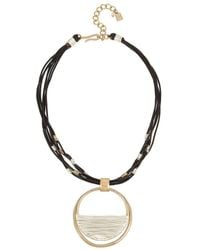 Robert Lee Morris - Wire Wrapped Two Tone Pendant Necklace - Lyst