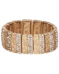 Belle By Badgley Mischka - Textured Bar Stretch Bracelet - Lyst