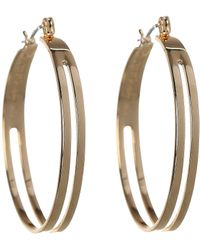 BCBGeneration - Bcbg Two Row Hoop Earrings - Lyst