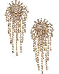 Cezanne - Fireworks Rhinestone Clip-on Statement Earrings - Lyst