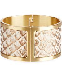 Brahmin - Medium Leather Hinge Cuff Bracelet - Lyst