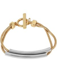 Kenneth Cole - Two-tone Double-bar Toggle Bracelet - Lyst