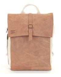 TOMS - Trekker Natural Canvas & Leather Backpack - Lyst