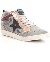 Freebird - 516 High-top Mixed Leather Lace-up Side Star Detail Sneakers - Lyst