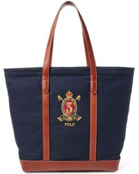 Polo Ralph Lauren | Elevated Canvas And Leather Tote | Lyst